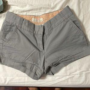 J crew linen chino shorts 100% cotton jcrew grey